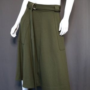 Banana Republic |  A-Line Skirt | Army Green Skirt